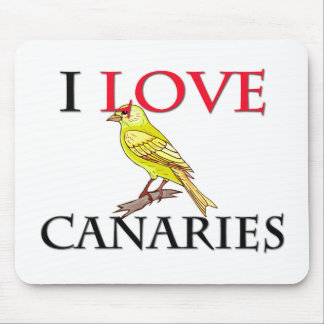 I Love Canaries Mouse Pad