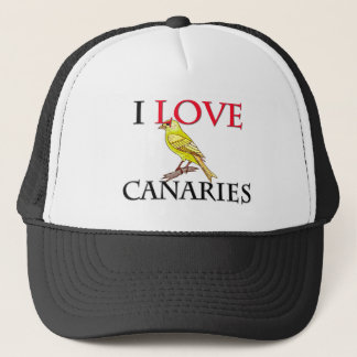 I Love Canaries Trucker Hat