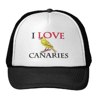 I Love Canaries Trucker Hat