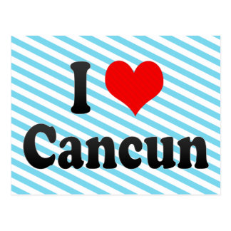I Love Cancun, Mexico Postcard