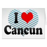 I Love Cancun, Mexico Stationery Note Card