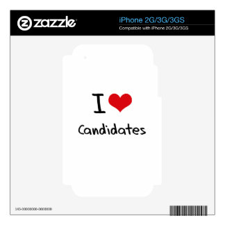 I love Candidates iPhone 3G Decals