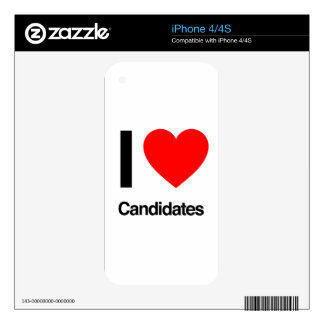 i love candidates decals for iPhone 4S