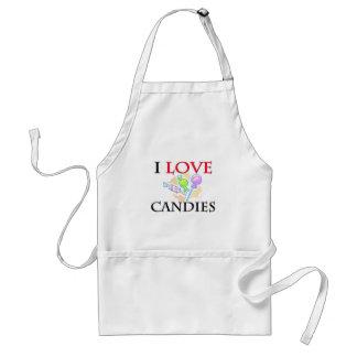 I Love Candies Adult Apron