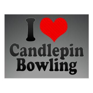 I love Candlepin Bowling Postcard