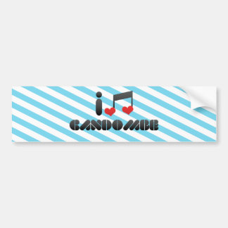 I Love Candombe Car Bumper Sticker