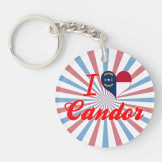 I Love Candor, North Carolina Acrylic Keychain