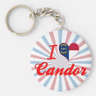 I Love Candor, North Carolina Keychain