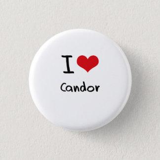 I love Candor Pinback Button