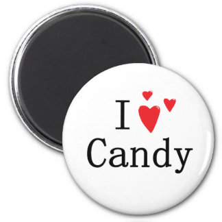 I Love Candy 2 Inch Round Magnet