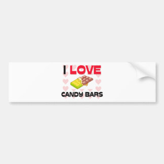 I Love Candy Bars Bumper Sticker