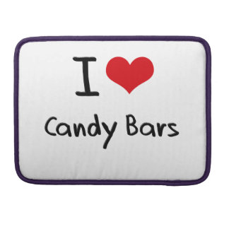 I love Candy Bars Sleeve For MacBook Pro