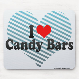 I Love Candy Bars Mouse Pad