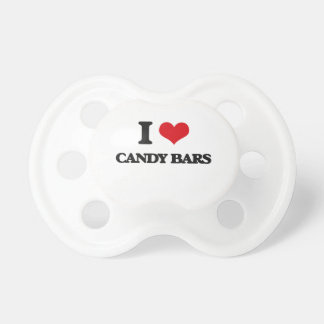 I Love Candy Bars Baby Pacifier