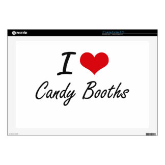 I love Candy Booths Artistic Design Decals For Laptops