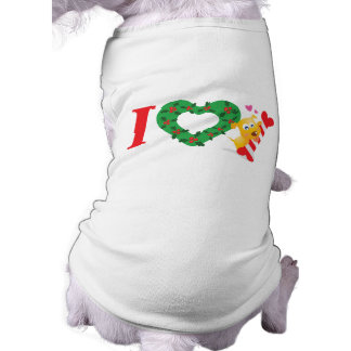 I Love Candy Cane (Dog bone shaped) Shirt