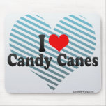I Love Candy Canes Mouse Pad