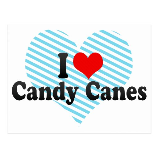 I Love Candy Canes Postcard