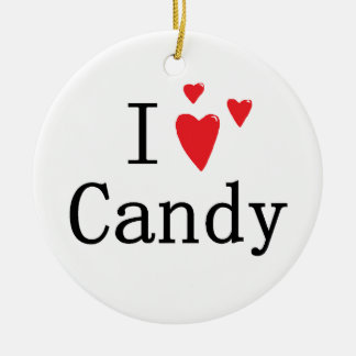 I Love Candy Christmas Tree Ornament