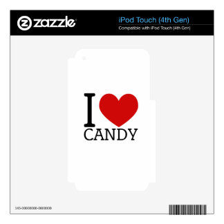 I Love Candy Decals For iPod Touch 4G