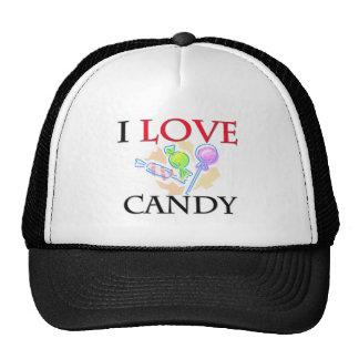 I Love Candy Mesh Hats