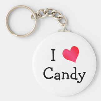 I Love Candy Keychain