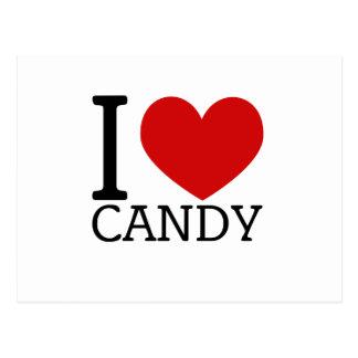 I Love Candy Postcard