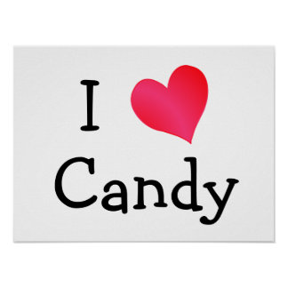 I Love Candy Poster