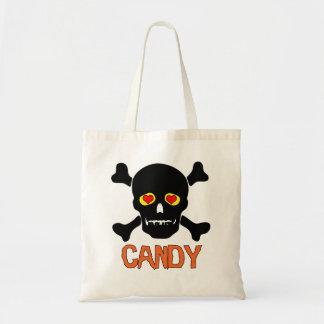 I Love Candy Skull and Cross Bones Bag