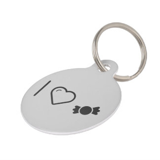 I Love Candy Stores Pet ID Tags