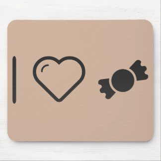 I Love Candy Stores Mouse Pad
