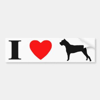 I Love Cane Corsos Bumper Sticker