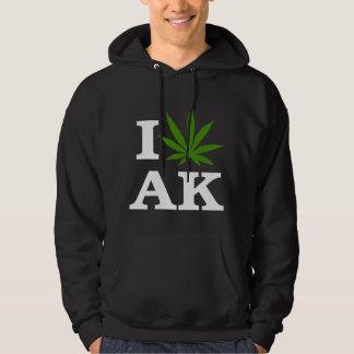I Love Cannabis Marijuana Alaska Dark T-Shirt