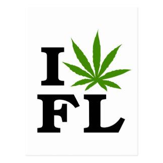 I Love Cannabis Marijuana Florida Postcard