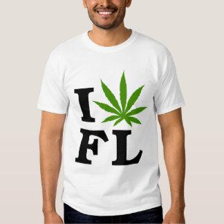 I Love Cannabis Marijuana Florida T-Shirt
