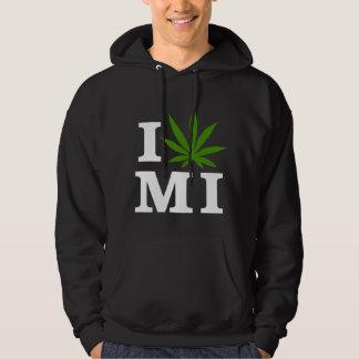 I Love Cannabis Marijuana Michigan Hoodie
