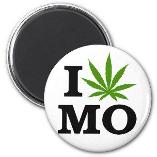 I Love Cannabis Marijuana Missouri 2 Inch Round Magnet