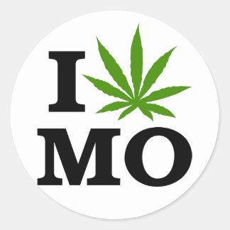 I Love Cannabis Marijuana Missouri Classic Round Sticker