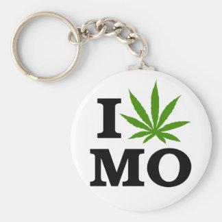 I Love Cannabis Marijuana Missouri Keychain