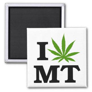 I Love Cannabis Marijuana Montana 2 Inch Square Magnet