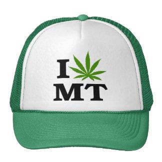 I Love Cannabis Marijuana Montana Trucker Hat