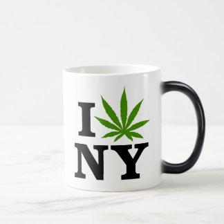 I Love Cannabis Marijuana New York Magic Mug