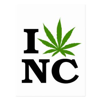 I Love Cannabis Marijuana North Carolina Postcard