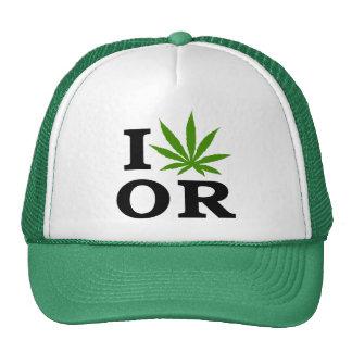 I Love Cannabis Marijuana Oregon Trucker Hat