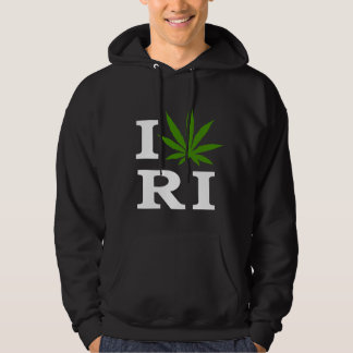 I Love Cannabis Marijuana Rhode Island Hoodie