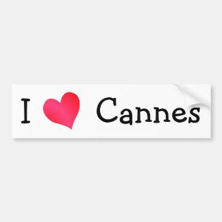 I Love Cannes Car Bumper Sticker