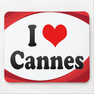 I Love Cannes, France Mousepads