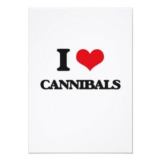 I love Cannibals 5x7 Paper Invitation Card
