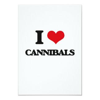 I love Cannibals 3.5x5 Paper Invitation Card