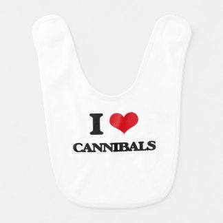 I love Cannibals Baby Bibs